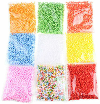 Mini Styrofoam Filler Foam Beads Balls Assorted Colors Polystyrene Crafts Ne