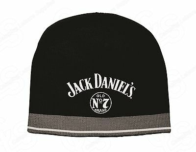 Jack Daniels knitted BEANIE  L/XL - Great gift idea