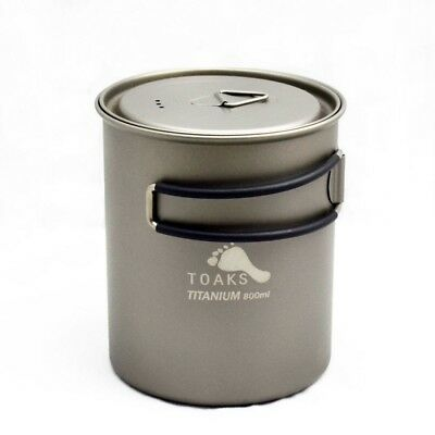 TOAKS POT-850 Ultra-Light Outdoor Camping Titanium Pot Titanium cup with lid