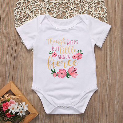 USA STOCK Newborn Infant Baby Girl Floral Romper Bodysuit Outfit Sunsuit Clothes
