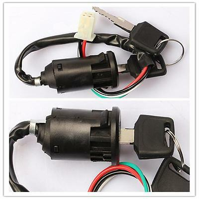 New Off Road Motorcycle 4 wire Ignition Switch & Lock with key Chinese ATV SM!