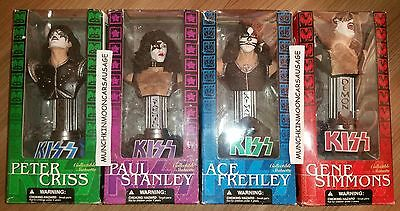 Full Set of 4 Kiss Collectible Statuette Gene Ace Paul Peter McFarlane Toys 2002