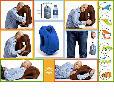 Pemy Travel Pillow, Inflatable, Versatile, Neck and Head Rest, Light, Foldable
