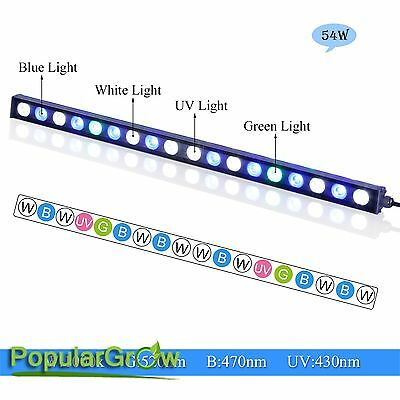 54W LED Aquarium Strip Light Bar Coral Reef Fish Tank supplement lighting growth