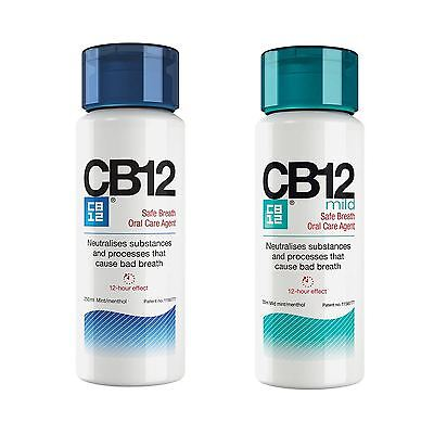CB12 Mild Mint/Menthol Mint Mouthwash 250ml