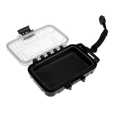 Waterproof Box Case Holder Plastic Container Phone Money Key Storage Black