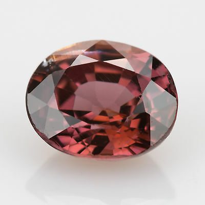 1.03 ct Zircon Oval cut 6.06x5.00mm Si1 Natural loose gemstone Red brown color