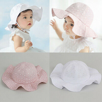 USA New Toddler Kids Sun Cap Summer Outdoor Baby Girls Boys Sun Beach Cotton Hat