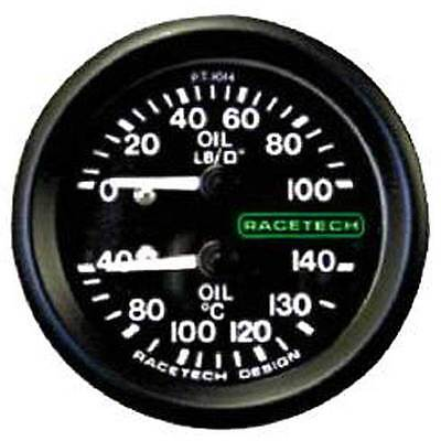Racetech Oil Pressure/Oil Temperature Combi Gauge + Back Light & 9ft Capilary