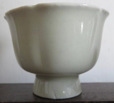 A Fine Chinese Song Qingbai Six-Lobed Stem Cup