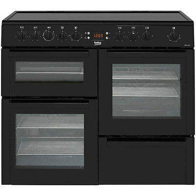 Beko BDVC100K 100cm 5 Burners Electric Range Cooker Black New from AO