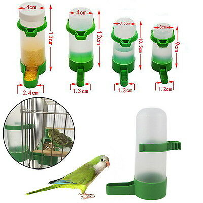 12pcs Bird Seed Feeder Pigeon Parrot Budgie Canary Drinker Food Feeder Waterer ~