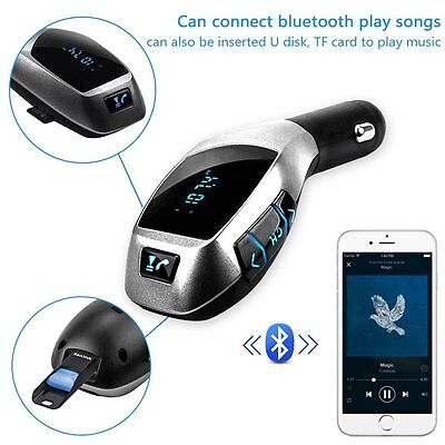 X5 Car MP3 Player Wireless Bluetooth FM Transmitter LCD Display Radio Adapter