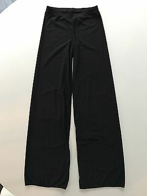 Motionwear Sheer Black Dance Jazz Gymnastics Pants  Girls Large L 12 14