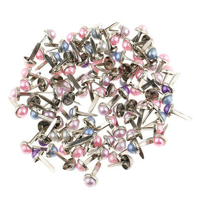 200PcMixed Color Metal Brad Paper Fastener For Scrapbooking Craft 8mm