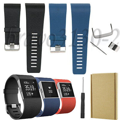 Replacement Wristband Band Strap Clasp Buckle Tool Kit for Fitbit Surge with Box