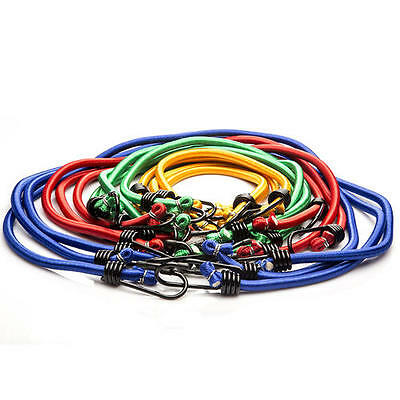 7 14 28 Bungee Cord Kit Assorted Size Set 18 24 30 40 In. Rubber Coat Steel Hook