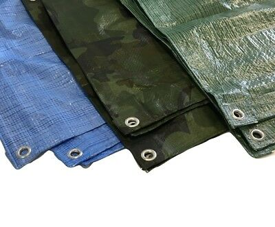 All Sizes Waterpoof Tarpaulin ground Sheet Lightweight Camping cover tarp yuzet