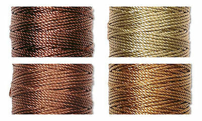 S-Lon Superlon Bead Cord Tex 400  Heavy  .9mm  Earth Tone Mix - 4 spools