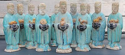 A Full Set Of Chinese Ming Dynasty Zodiac Figures