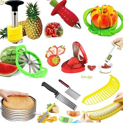 NEW Kitchen Fruit Vegetable Tools Set Spiral Slicer Potato Fruit Cutter Peelers