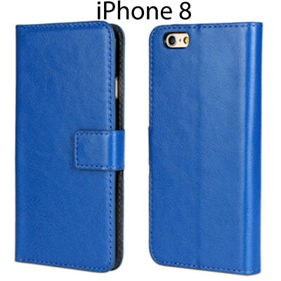 For iPhone 7 Executive Leather Card Wallet Case Cover Flip Stand Skin Protector