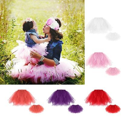 Mother Daughter Matching Family Women Girls Party Tutu Skirts Dress US STOCK