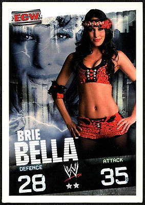 Brie Bella 2009 WWE Slam Attax Evolution Wrestling TCG Card (C378)