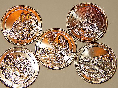 2012-S 5 Coin San Francisco Collector Edition Set  - America The Beautiful