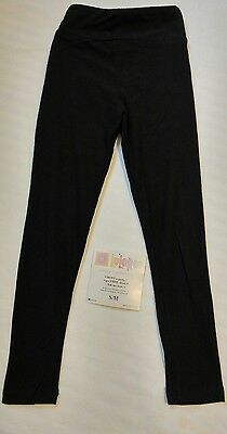 NWT Lularoe Kids Small Medium (Fits Sizes 2-8) SOLID BLACK Leggings RARE