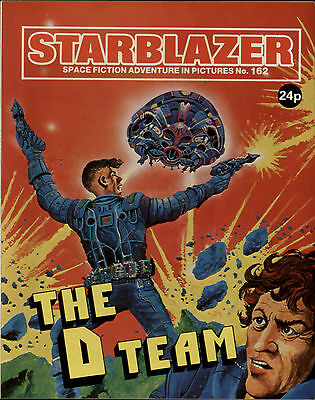 The D Team,starblazer Space Fiction Adventure In Pictures,no.162,comic,1986