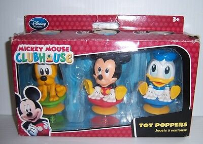 Disney Store Mickey Mouse Clubhouse Toy Poppers - Mickey, Donald & Pluto