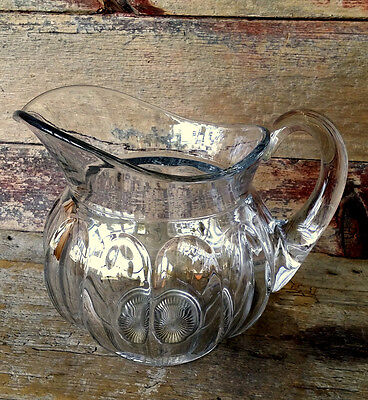 SUPER 64 Ounce ! Large HEISEY PURITAN Colonial Pattern CRYSTAL Glass Pitcher JUG