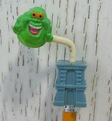 1987 Ghostbusters Movie Burger King Slimer Ghost Pencil Topper Premium Toy RARE