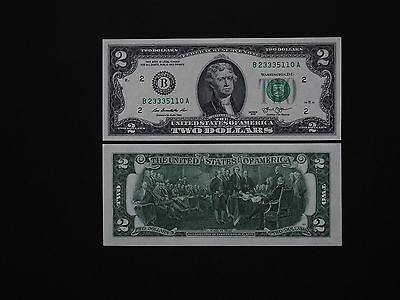 """United States Banknotes  $2  """"new York""""  Issue  2013  -  Jefferson   Mint Unc"""