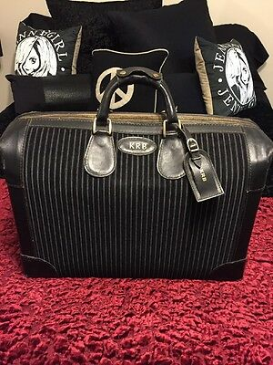 French: America's Finest Luggage Train Case Travel Bag Hand Crafted Vintage