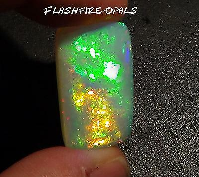 23.8ct! DOPPELS.GEM WELO OPAL  BRILLIANT ROT/GOLD/GRÜN  VIDEO FLASHFIRE-OPALS*