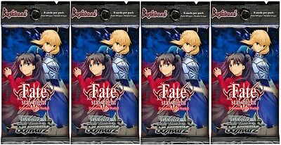 Weiss Schwarz: Fate/stay night [Unlimited Blade Works] Booster Packs (X4) Sealed