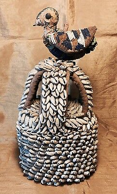 Antique African Tribal Cowrie Shell YORUBA ILE-ORI House of the Head Altar Piece