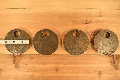 """AR500 1//2/"""" Steel Shooting Targets 2/"""" Standing Circles Set of FOUR"""