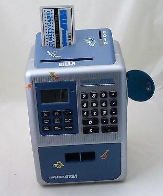 Personal ATM Toy/Piggy Bank for Imaginative Play, has display and keypad, 2000's