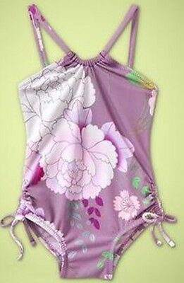New- Baby Gap Size 4 Years Purple Floral One Piece Swimsuit New With Tags!