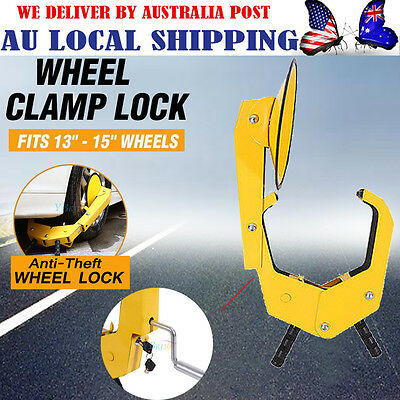 13-15'' Wheel Lock Clamp Heavy Duty Anti-theft For Vehicle Car Trailer with 2Key