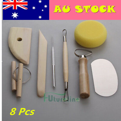 Pottery Tool 8X Set Clay Ceramics Molding Wire Clay Cutter Potters Rib Tools AU