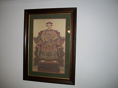 Asian framed print Emperor of China Large
