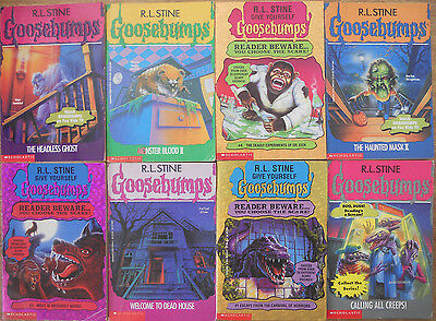 24 Goosebumps Book lot Stine Chapter Books Horrorland +2 Dvd Lot