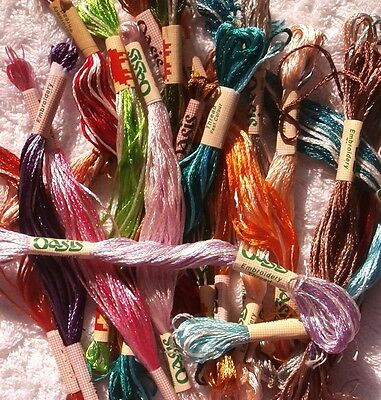 Variegated Oasis Silk Rayon Stranded Embroidery Threads Assorted - 20 skeins