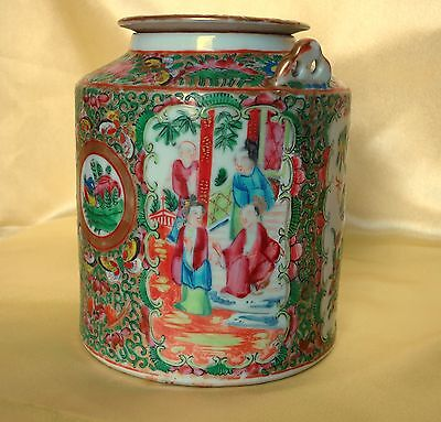 Porcelaine Chine Canton Chinese Export Rose Medallion Boite A The Teacaddy 19E S