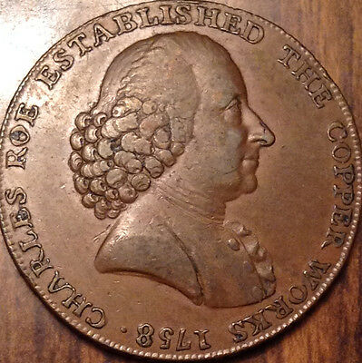 United Kingdom 1790 Halfpenny Token Macclesfield Magnificent !