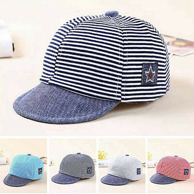 USA STORAGE Summer Newborn Baby Girl Boy Infant Sun Cap Cotton Beret Hat Striped